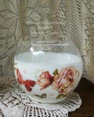 sfera-styklena-dekupaj-rozi