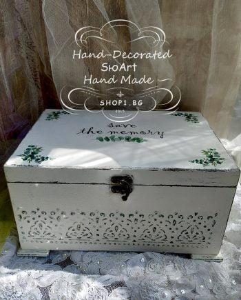 Голяма дървена сватбена кутия