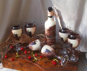 podaryk-za-lovec-chashi-butilka-vino